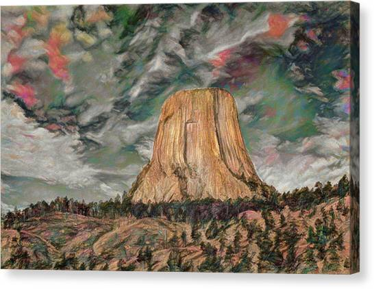 Transcendental Devils Tower Canvas Print