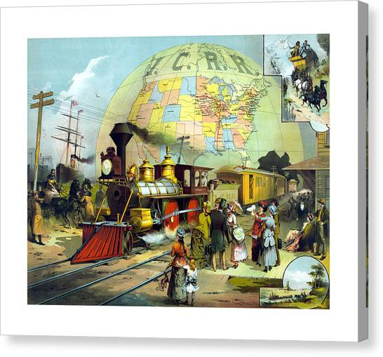 Railroads Canvas Print - Transcontinental Railroad by War Is Hell Store