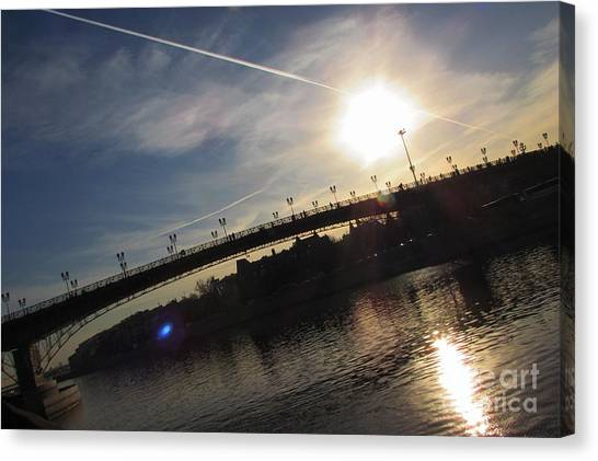Moscow Skyline Canvas Print - Transfix The Sun by Anna Yurasovsky