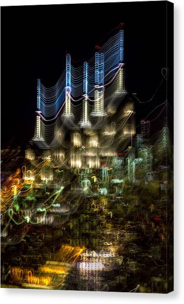 Abstract Skyline Canvas Print - Transformer by Az Jackson