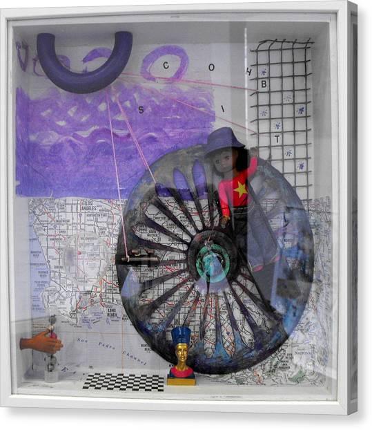 Venus Williams Canvas Print - Transgression Quartet Iv by Lorraine Riess