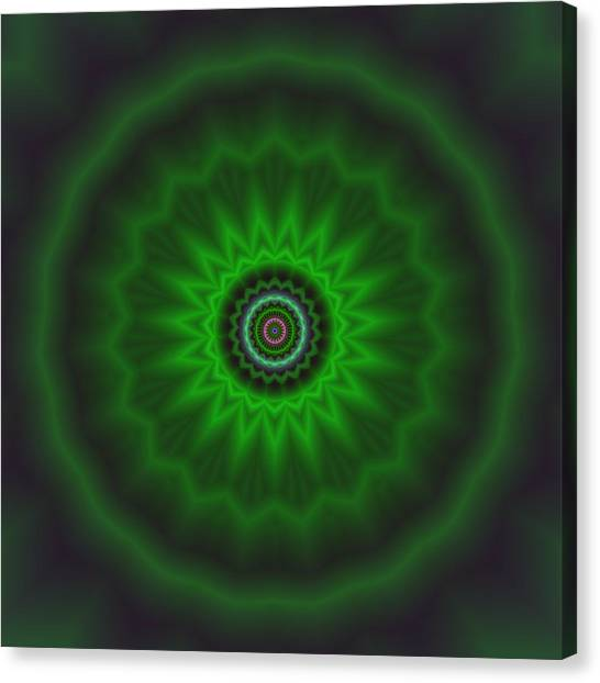 Canvas Print featuring the digital art Transition Flower 2 by Robert Thalmeier