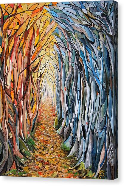 Transition Of Autumn Canvas Print