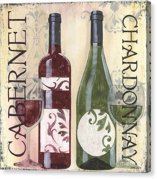 White Wine Canvas Print - Transitional Wine 2 by Debbie DeWitt