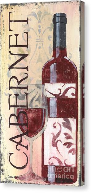 Winery Canvas Print - Transitional Wine Cabernet by Debbie DeWitt