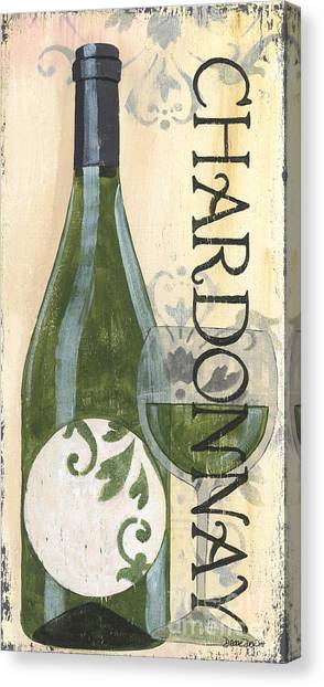Winery Canvas Print - Transitional Wine Chardonnay by Debbie DeWitt