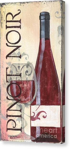 Winery Canvas Print - Transitional Wine Pinot Noir by Debbie DeWitt