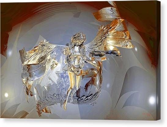 Canvas Print featuring the digital art Transparent Angel by Deleas Kilgore
