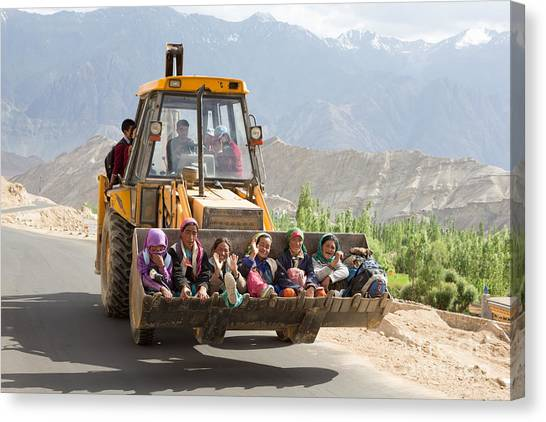 Transport In Ladakh, India Canvas Print