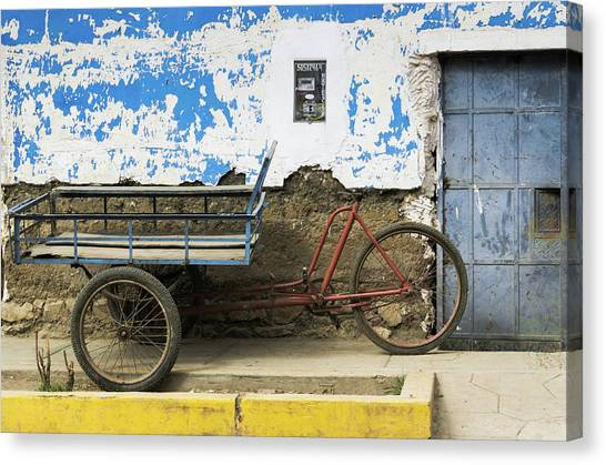 Peruvian Canvas Print - Transport Old School by DiFigiano Photography