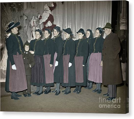 Trapp Family Singers 1945 Canvas Print
