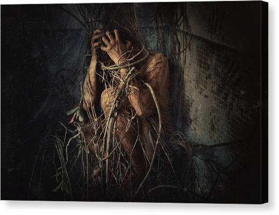 Mud Canvas Print - Trapped by Jay Satriani