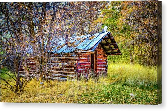 Trappers Cabin Canvas Print