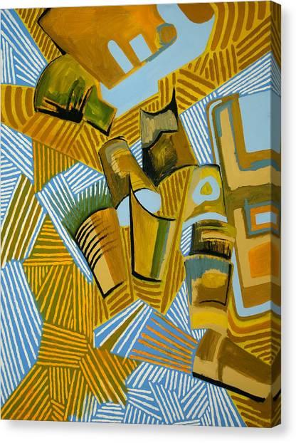 Jasper Johns Canvas Print - Trash Painting IIi by Natalie Rodgers