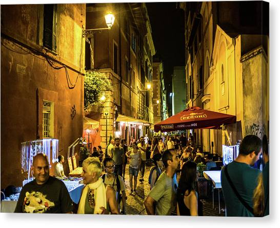Canvas Print featuring the photograph Trastevere by Robert McKay Jones