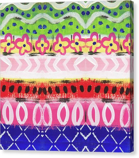 Moroccan Canvas Print - Southwest Jubilee- Art By Linda Woods by Linda Woods