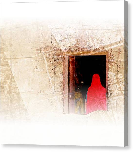 Travel Exotic Women Portrait Mehrangarh Fort India Rajasthan 1a Canvas Print