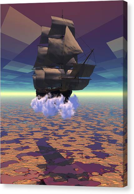 Travel In Another Dimension Canvas Print by Claude McCoy