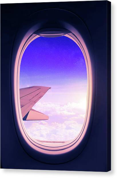 Window Canvas Print - Travel The World by Nicklas Gustafsson