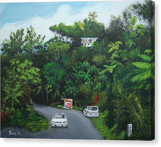 Traveling In Adjuntas Mountains Canvas Print