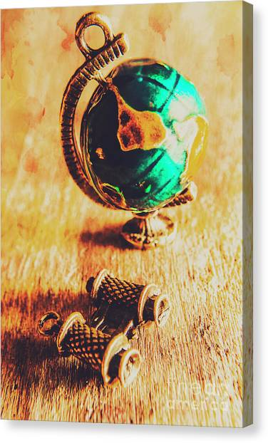 Vacations Canvas Print - Travellers Globe by Jorgo Photography - Wall Art Gallery