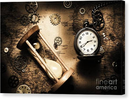Clock Canvas Print - Travelling Old Worlds by Jorgo Photography - Wall Art Gallery