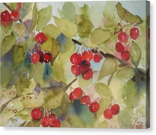 Traverse City Cherries Canvas Print