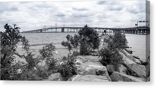 Canvas Print featuring the photograph Traversing The Chesapeake by T Brian Jones