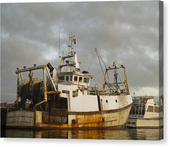 Trawler Canvas Print by Dan Andersson