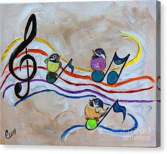 Treble Clef Trio Canvas Print