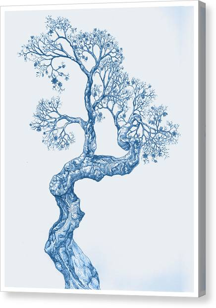 Tree 14 Blue 1 Canvas Print