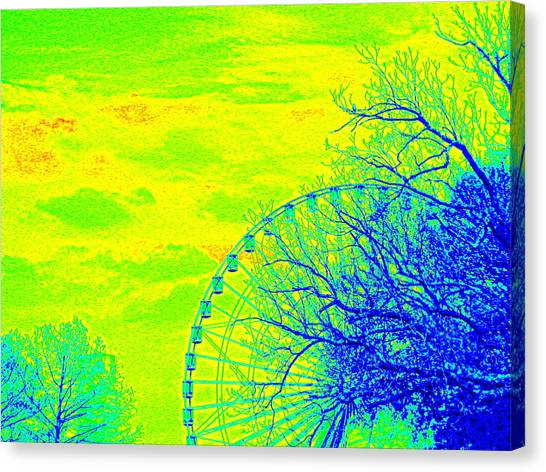 Tree And Ferris Wheel  Canvas Print