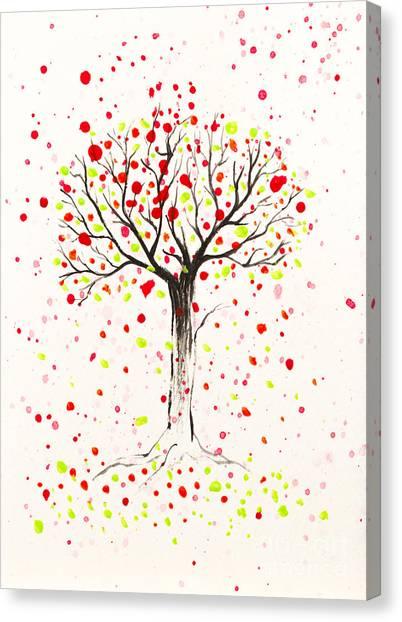 Tree Explosion Canvas Print