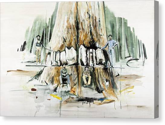 Woodsmen Canvas Print - Tree Felling by Calum McClure