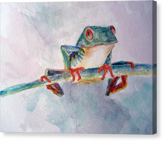 Tree Frog Canvas Print by Mike Segura