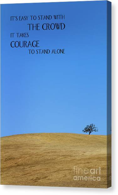 Canvas Print featuring the photograph Tree Of Courage by Steven Frame