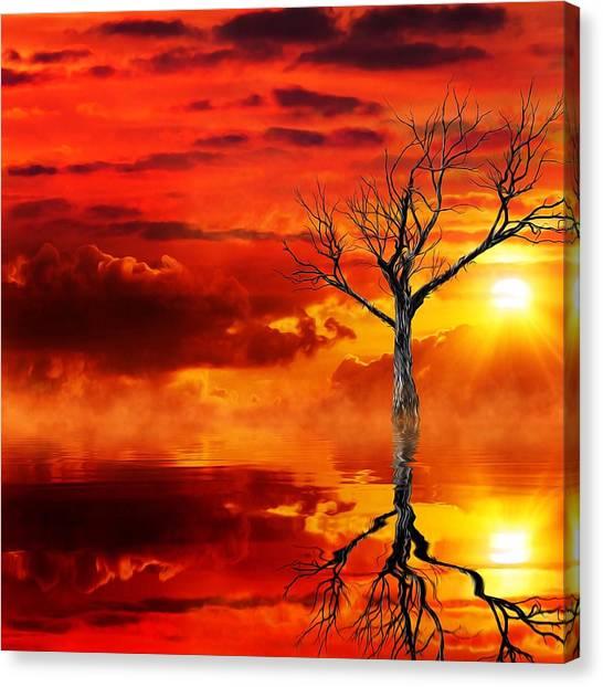 Tree Of Destruction Canvas Print