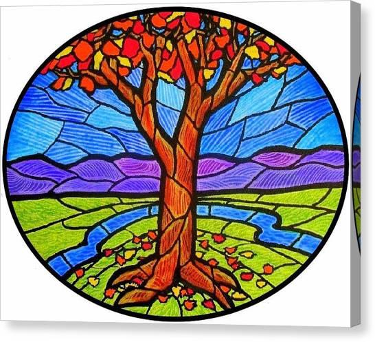 Tree Of Grace - Autumn Canvas Print