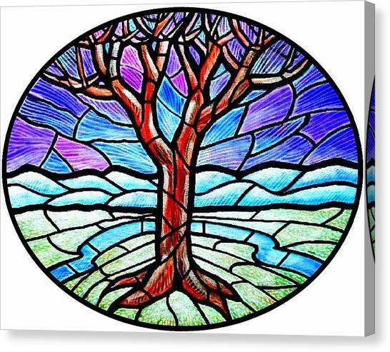 Tree Of Grace - Winter Canvas Print