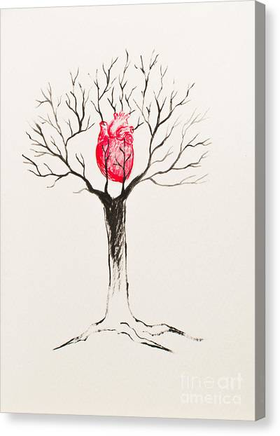 Tree Of Hearts Canvas Print