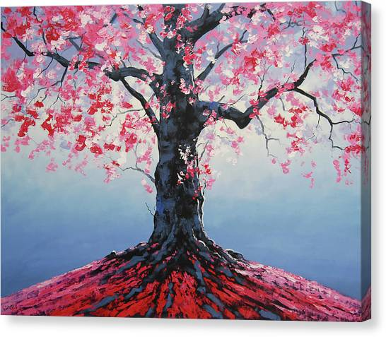 Salmon Canvas Print - Tree Of Life by Graham Gercken