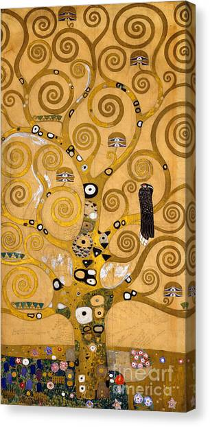 Perching Birds Canvas Print - Tree Of Life by Gustav Klimt