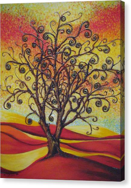 Tree Of Life Canvas Print by Mirjana Gotovac