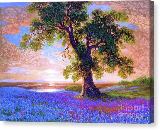 California Landscape Art Canvas Print - Tree Of Tranquillity by Jane Small