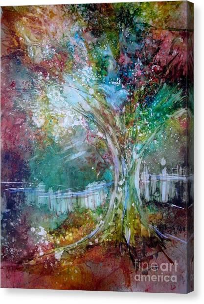 Tree On Fire Canvas Print