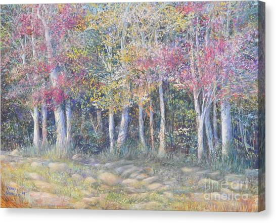 Tree Pageant Canvas Print by Penny Neimiller
