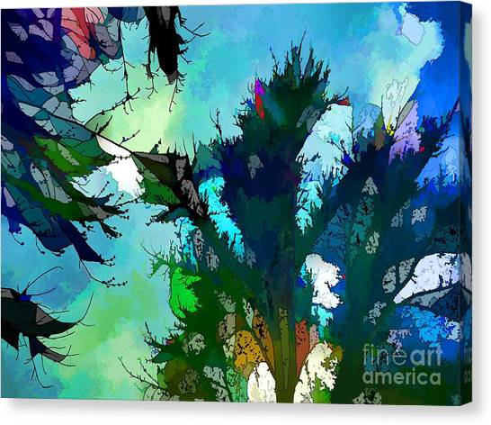 Tree Spirit Abstract Digital Painting Canvas Print