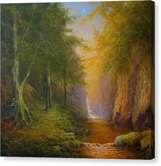 Fairytale Forest Tree Spirit Canvas Print