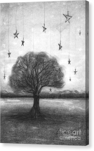 Tree Stars Canvas Print