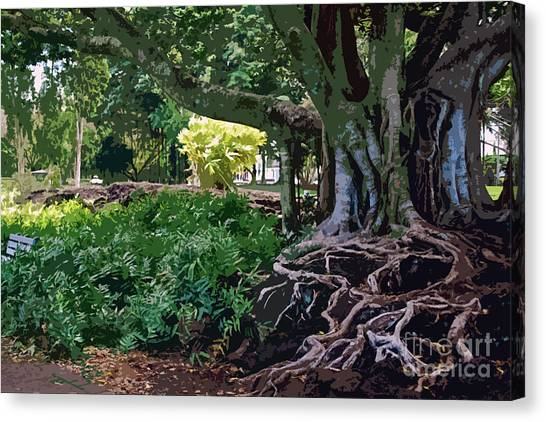 Tree With Roots Canvas Print